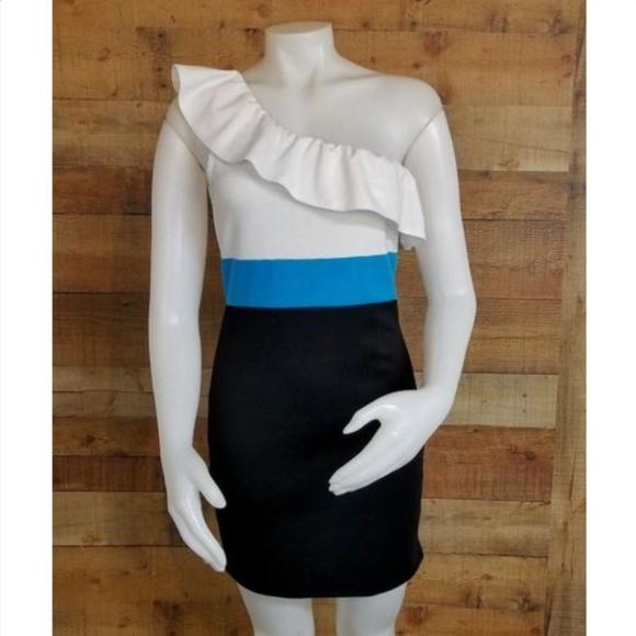 Bui Yah Kah Dresses & Skirts - Bui Yah Kah Womens Cold Shoulder Ruffle Top Dress
